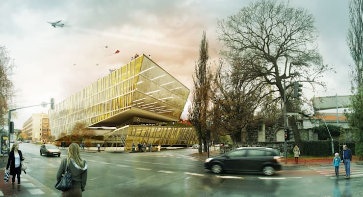 Slovenia National Library:  Offices & stores by Kamvari Architects