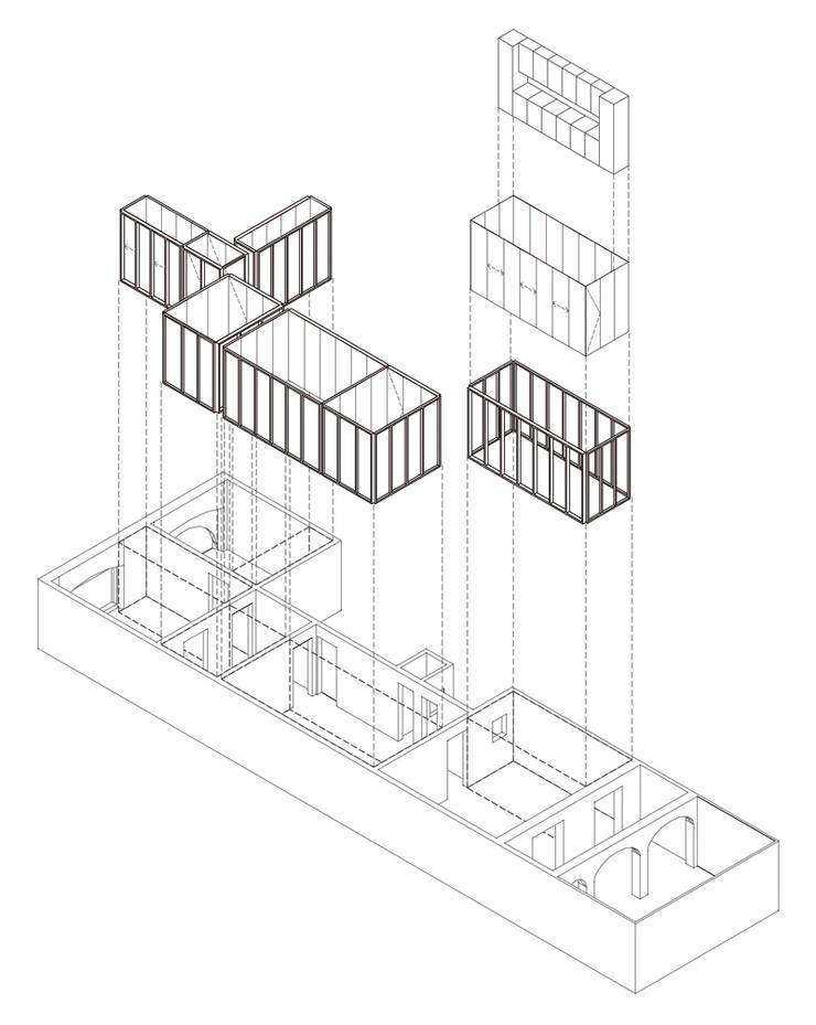 apartamento juan: Casas de estilo  de vora