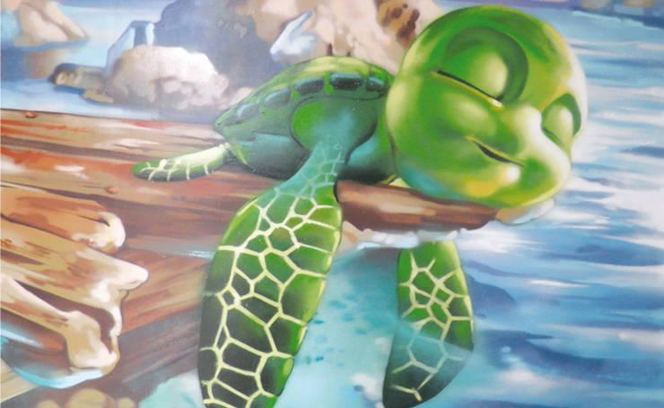CHAMBRE d'enfant thème marin / océan: Chambre d'enfant de style  par Popek décoration