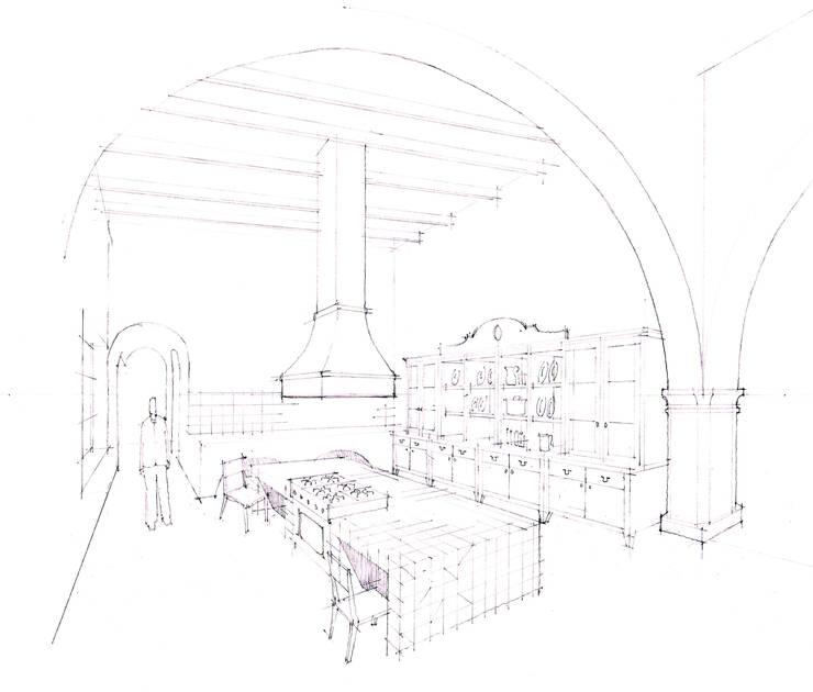 Perspectiva Cocina:  de estilo  por ArquitectosERRE