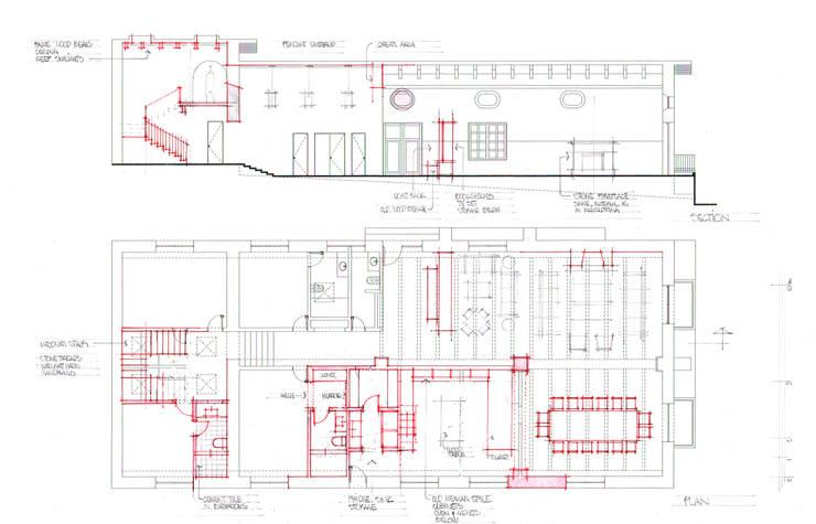 Planta y Sección Casa:  de estilo  por ArquitectosERRE