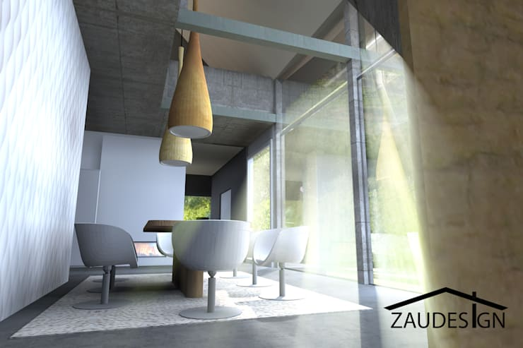 Modern house:  in stile  di ZauDESIGN
