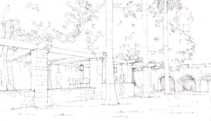 Jardín y Terraza:  de estilo  por ArquitectosERRE