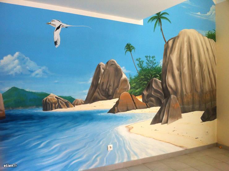 Fresque - Les Seychelles: Art de style  par Étien'