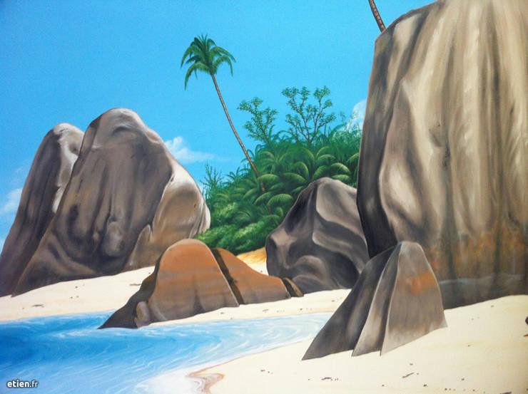 Fresque – Les Seychelles: Art de style  par Étien'