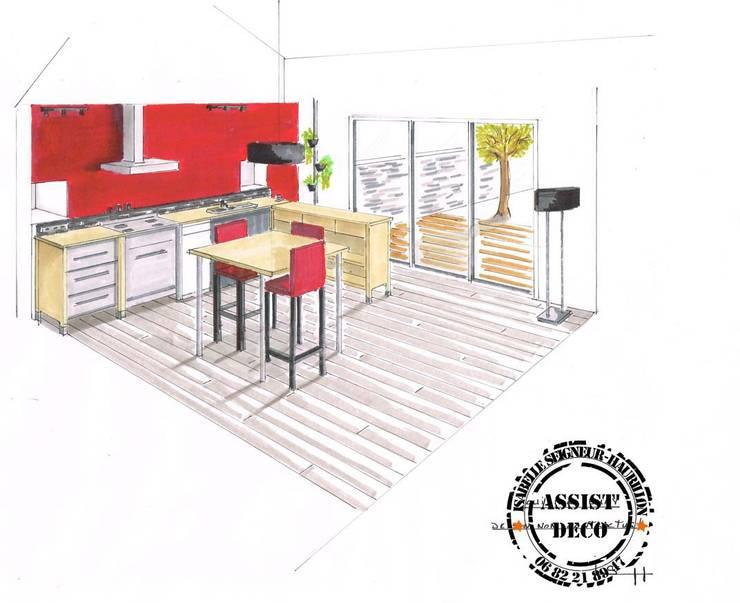 Aménagement d'une cuisine existante dans un nouveau lieu: Cuisine de style  par ASSIST'DECO