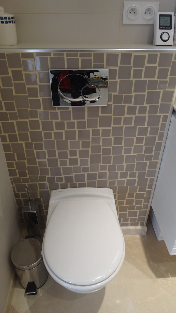 Renovation de salle de bains: Salle de bains de style  par Elisabeth Hamard Architecte d'intérieur