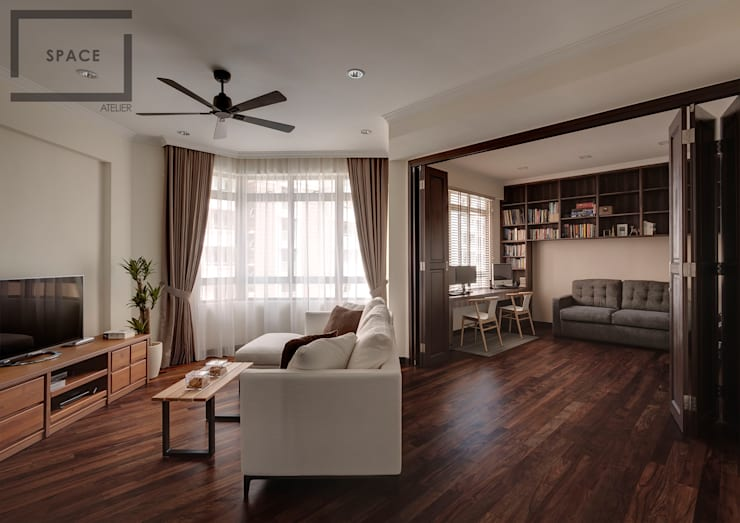 Blossomvale :  Living room by Space Atelier Pte Ltd