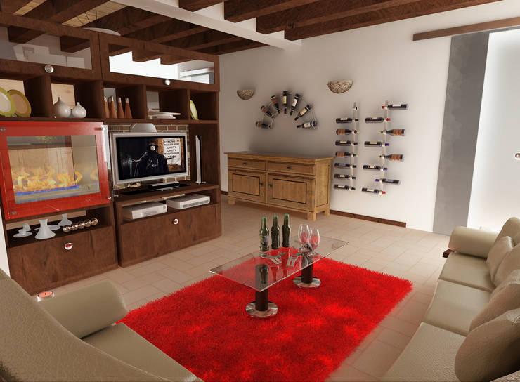 Taverna nelle alture di Sestri Levante: Cantina in stile  di lorenzo ardito&lorenzoignaccolo