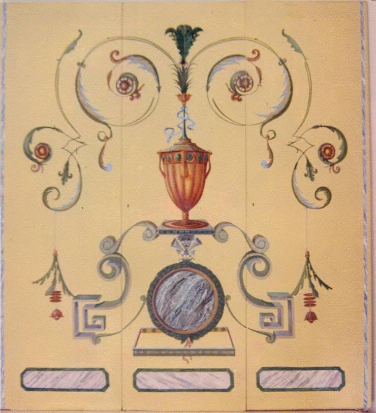 armadio decorato a grottesche: Arte in stile  di decorazioni artistiche