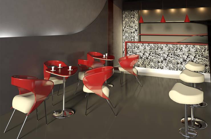 Sedia e Tavolo da caffè : Negozi & Locali Commerciali in stile  di Claudia Casale Design