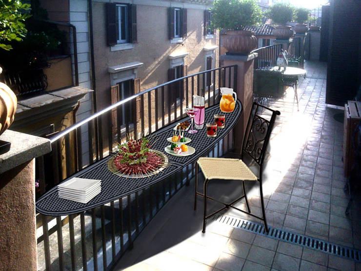Projekty,  Balkon, weranda i taras zaprojektowane przez Studio Tecnico Arch. Lodovico Alessandri