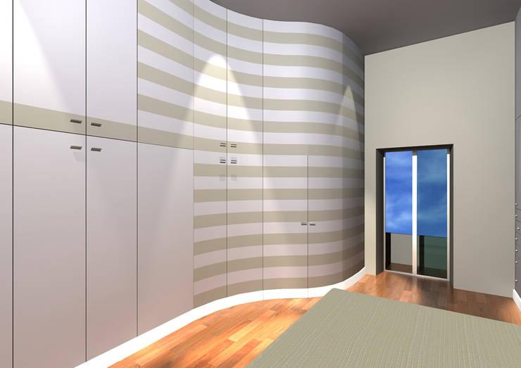 CABINA ARMADIO: Camera da letto in stile  di Studio Tecnico Arch. Lodovico Alessandri