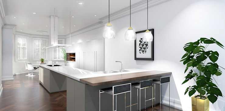 3D visuals for HUB KITCHENS:  Kitchen by Outsourcing Interior Design