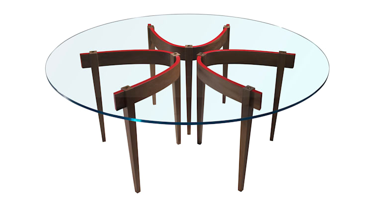 THE ROUND TABLE: Sala da pranzo in stile  di Adele-C
