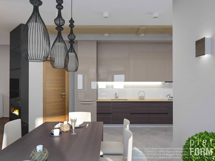 Гостиная в загородном доме: Кухни в . Автор – PlatFORM,