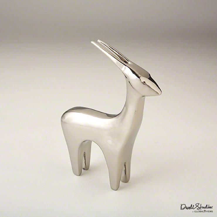 Antilope -helles Silber by Global Views:  Wohnzimmer von Sweets & Spices Dekoration und Möbel