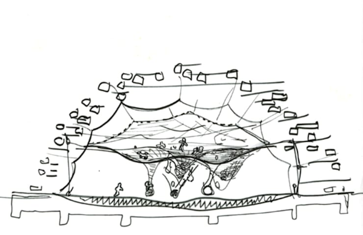 Sketch by Takaharu Tezuka: TEZUKA ARCHITECTSが手掛けたです。
