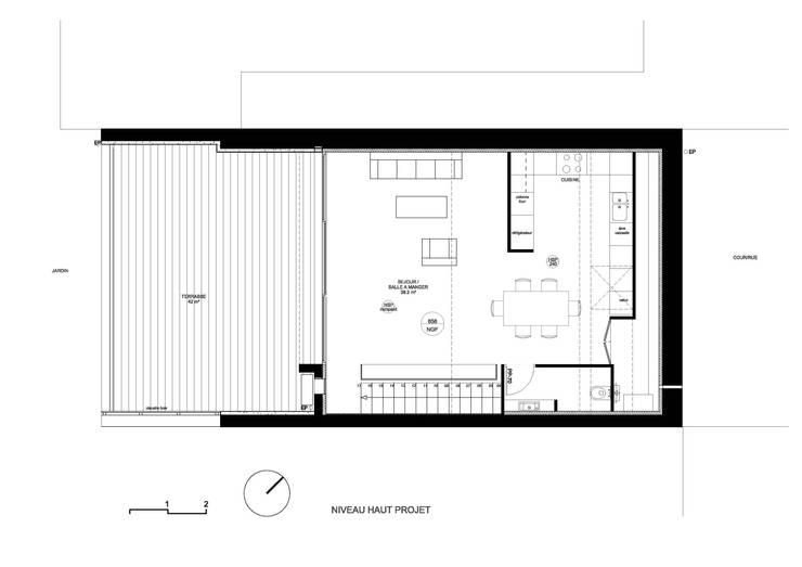 AMENAGEMENT DE COMBLES_MARSEILLE:  de style  par KMB ARCHITECTURE