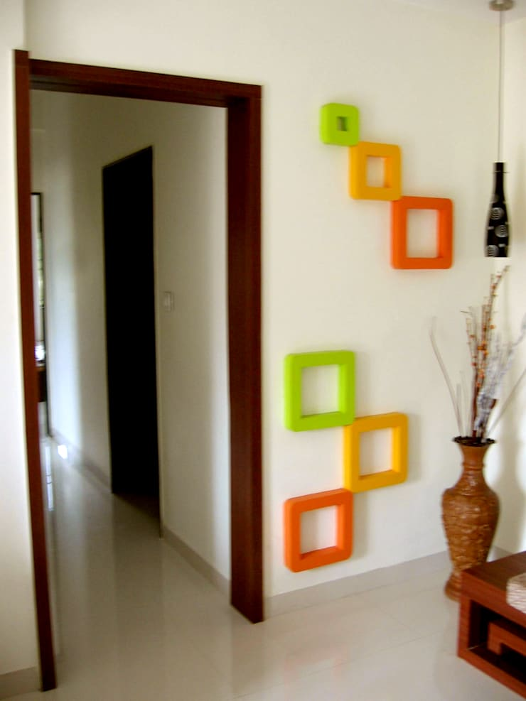 Decorative wall: modern Living room by 4D The Fourth Dimension Interior Studio