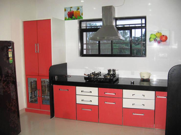 KITCHEN: modern Kitchen by 4D The Fourth Dimension Interior Studio
