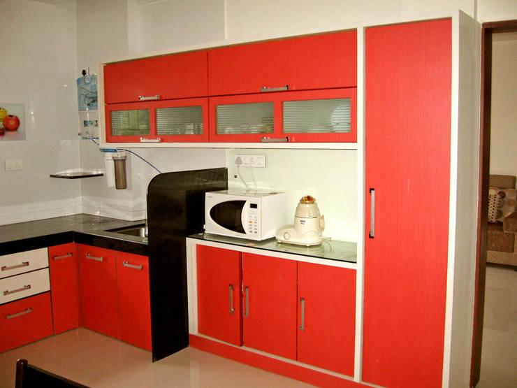 KITCHEN : modern Kitchen by 4D The Fourth Dimension Interior Studio
