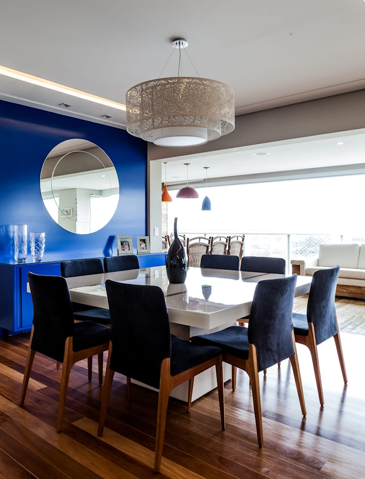 Jd. Marajoara: Salas de jantar modernas por Tikkanen arquitetura