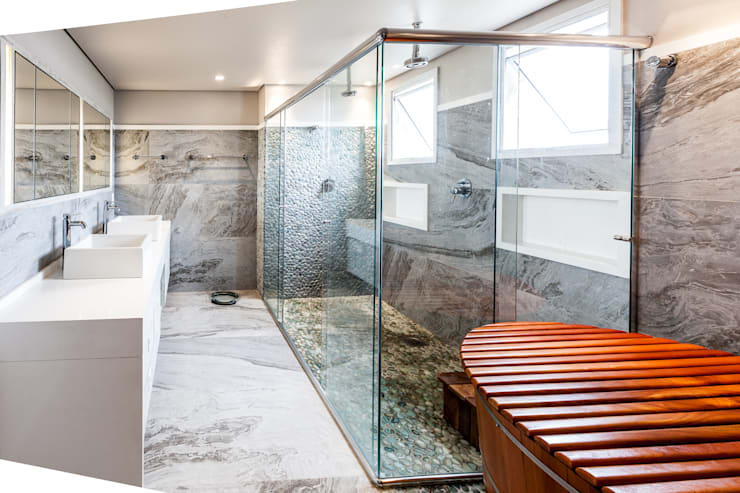 modern Bathroom by Tikkanen arquitetura