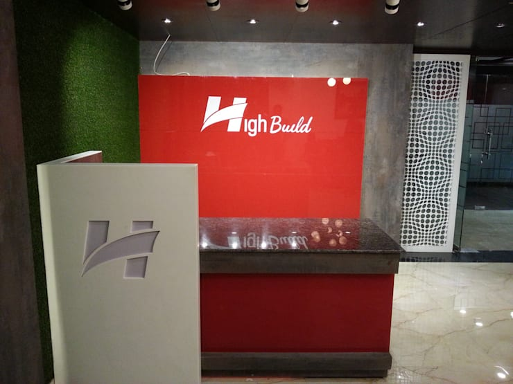 Highbuild Infrastructure Office:  Office spaces & stores  by Studio Interiors Infra Height Pvt Ltd