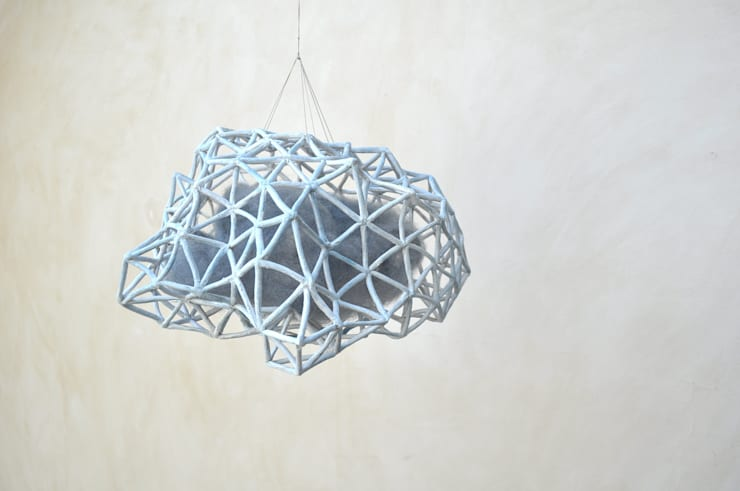 Suspension Kloud bleue: Art de style  par yfNa Céramique