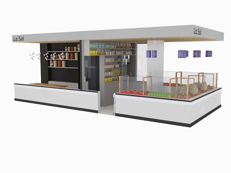 Puesto de ultramarinos Mercado de San Fernando.: Espacios comerciales de estilo  de Diseño Interior Bruto
