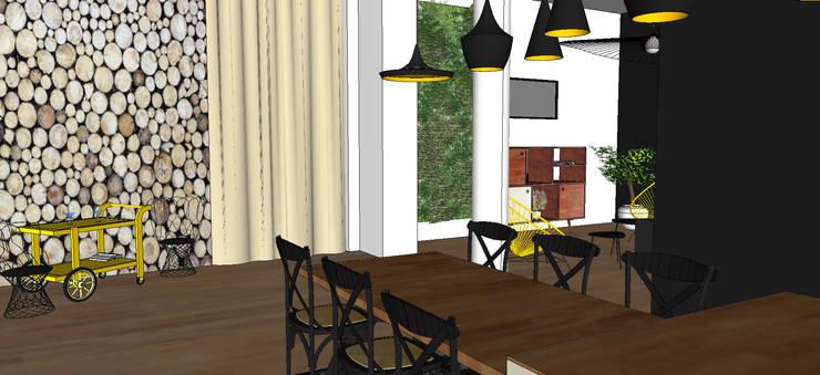 un appartement graphique: Salon de style  par MON OEIL DANS LA DECO