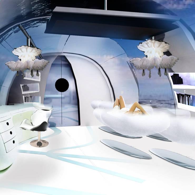 widok na wypoczynki oraz miejsce pracy: styl , w kategorii Jachty i motorówki zaprojektowany przez izabela jaroszek,Klasyczny