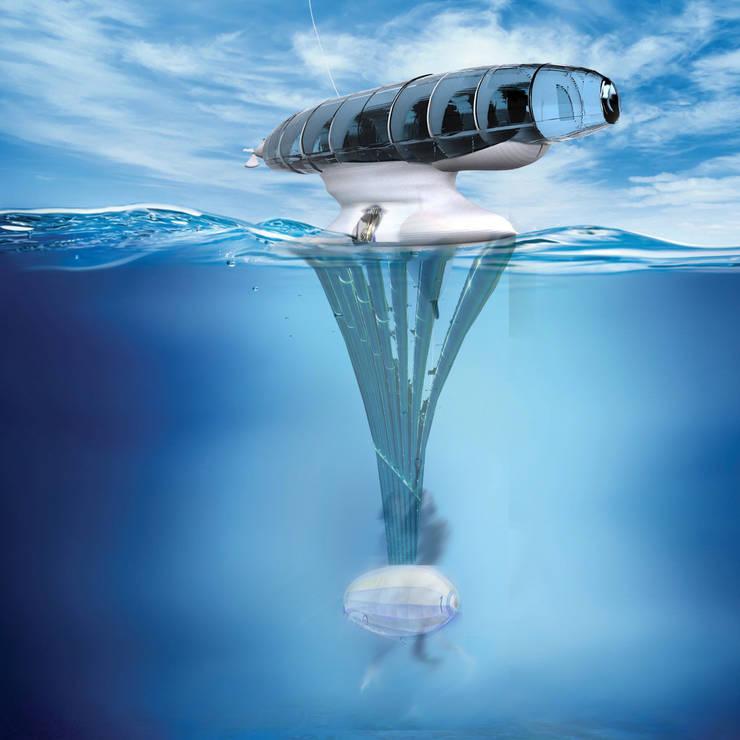 Personal Heaven miałby możliwość osadzania się na powierzchni wody: styl , w kategorii Jachty i motorówki zaprojektowany przez izabela jaroszek,Nowoczesny