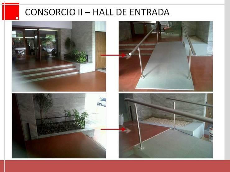 remodelacion de hall de entrada de edificio:  de estilo  por Remodelaciones SF