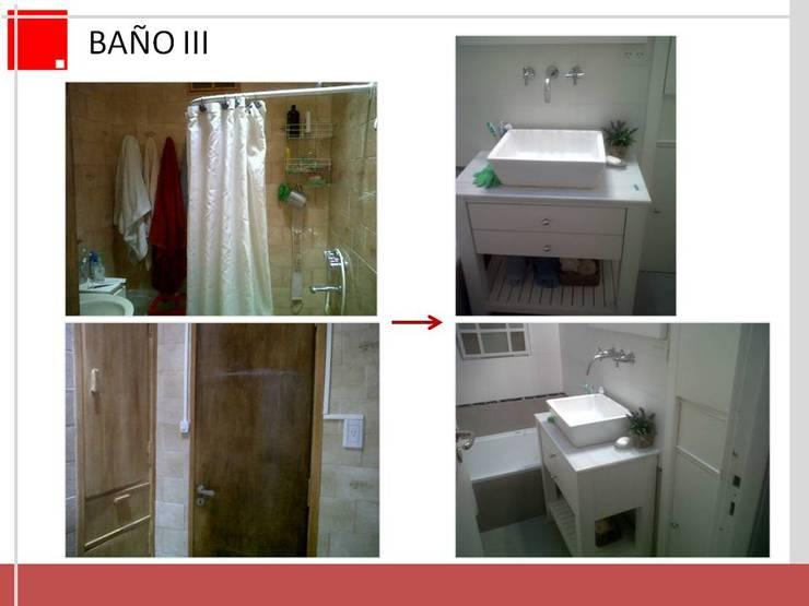 remodelacion de baño:  de estilo  por Remodelaciones SF,Moderno