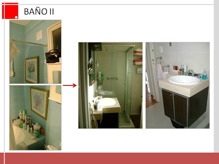 remodelacion de cocina y baño en departamento:  de estilo  por Remodelaciones SF
