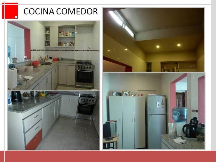 remodelacion de cocina y estar en p.h:  de estilo  por Remodelaciones SF
