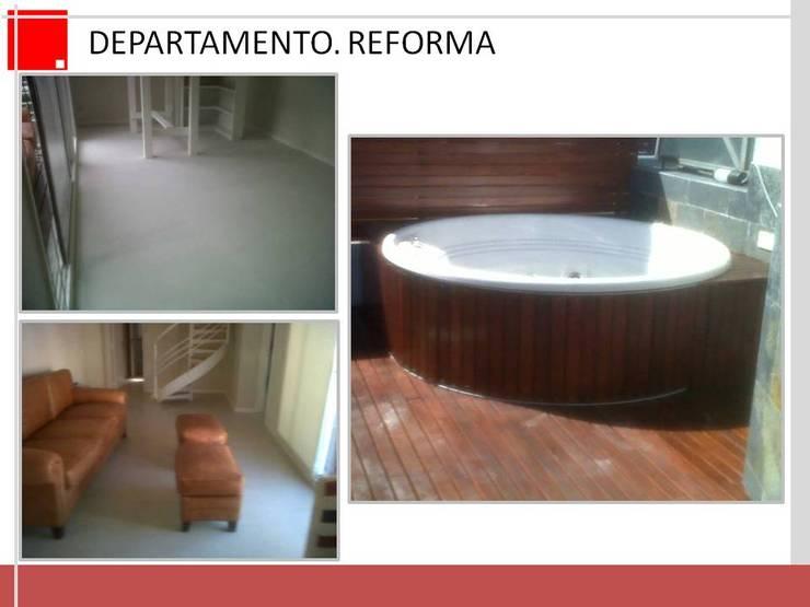 remodelacion de terrazas y estar comedor:  de estilo  por Remodelaciones SF,Rústico