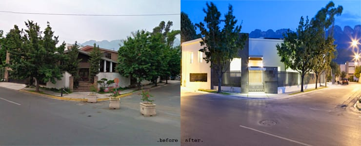 before n after: Casas de estilo  por NZA