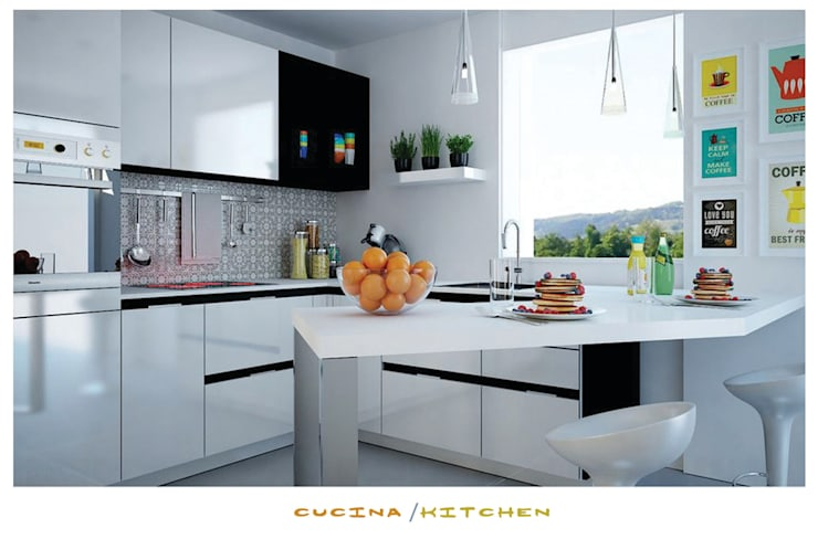 the kitchen: Cucina in stile in stile Minimalista di ZENZEROdesign