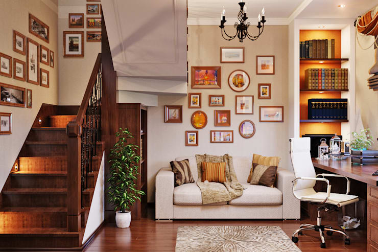 Классический домашний офис: Рабочие кабинеты в . Автор – Студия дизайна Interior Design IDEAS