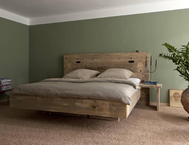 rustic Bedroom by timberclassics  -  Bauholzmöbel - markant, edel, individuell