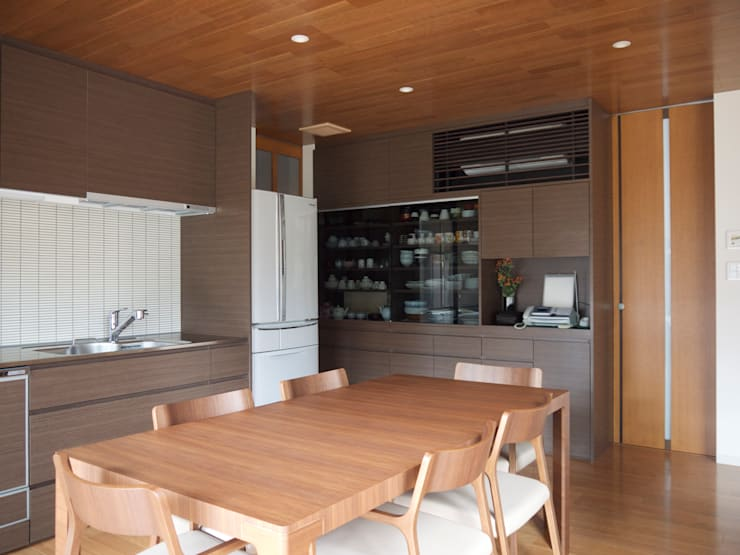 ダイニングキッチン:       古津真一 翔設計工房一級建築士事務所が手掛けたダイニングです。,モダン