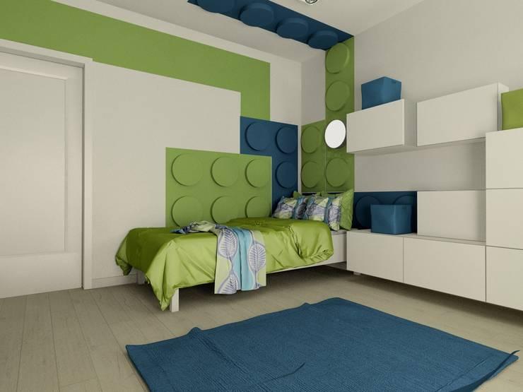 FLUFFO fabryka miękkich ścian: modern tarz Çocuk Odası