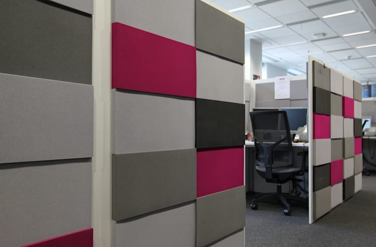 ห้องทำงาน/อ่านหนังสือ โดย FLUFFO fabryka miękkich ścian,
