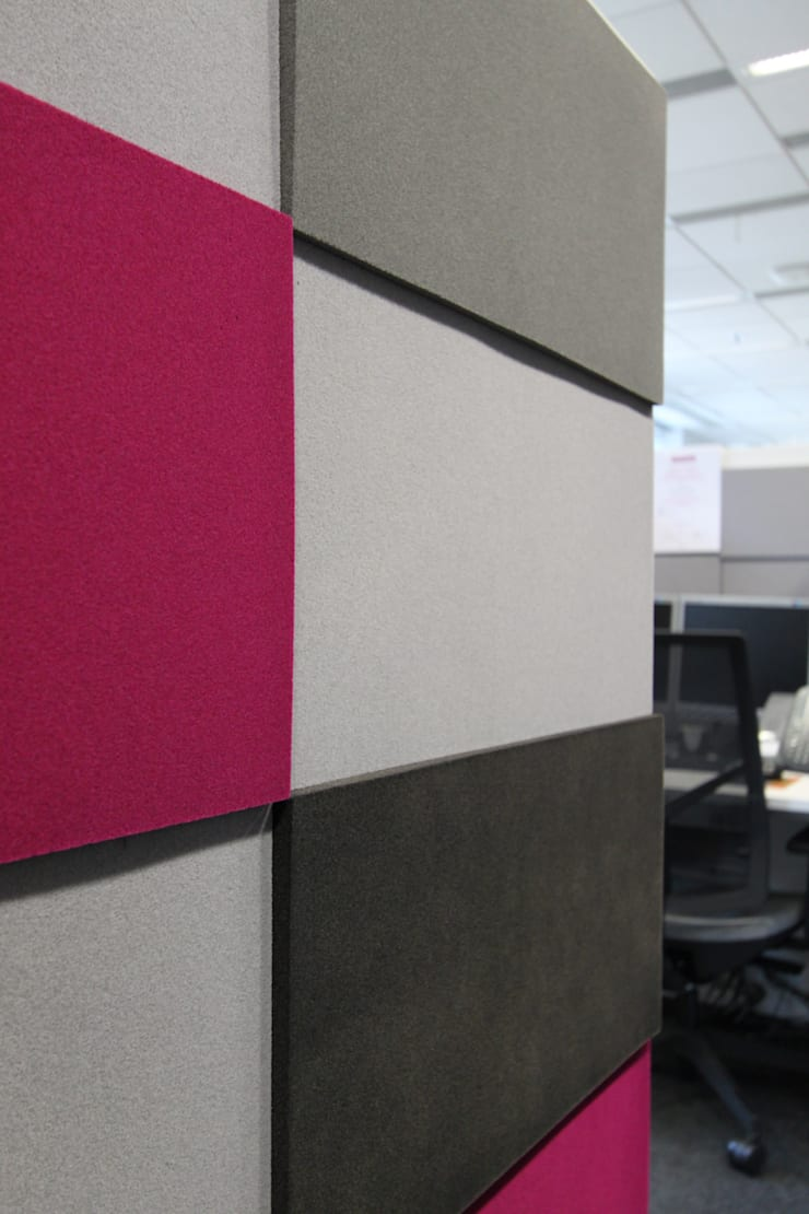 Przestrzeń biurowa by Mikomax - detal: styl , w kategorii Domowe biuro i gabinet zaprojektowany przez FLUFFO fabryka miękkich ścian