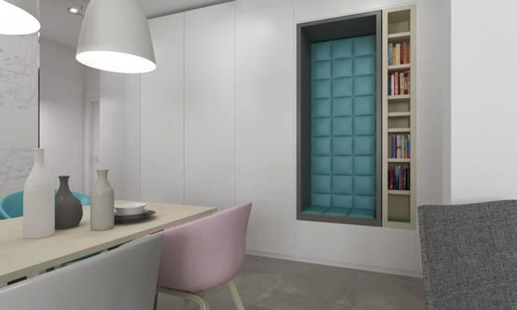 Mieszkanie 2+2, 68m2: styl , w kategorii Korytarz, przedpokój zaprojektowany przez A+A