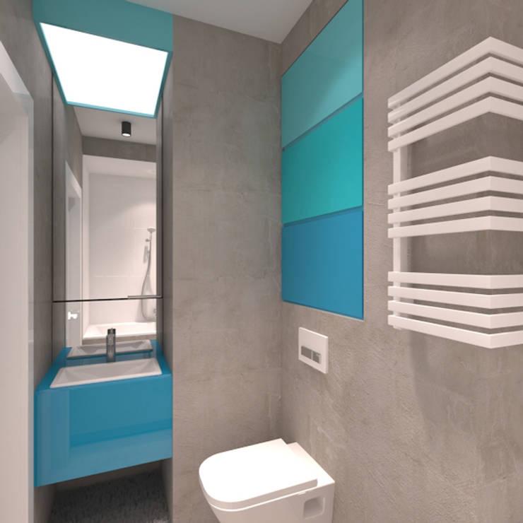 Mieszkanie 2+2, 68m2: styl , w kategorii Łazienka zaprojektowany przez A+A