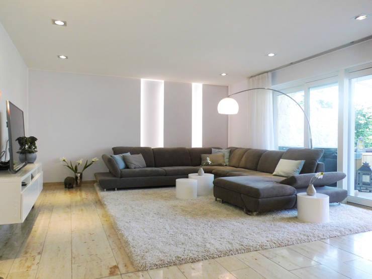 wohn, wohnberatung - wohn-esszimmer mit kaminecke in münster von raum², Design ideen